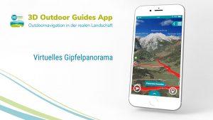 Neu in der 3D Outdoor Guides App: das virtuelle Panorama