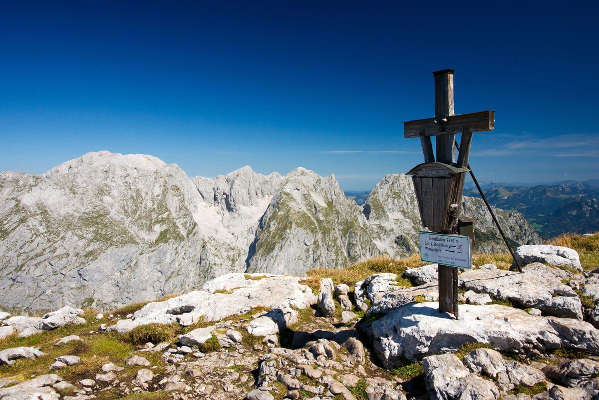 Am Gipfel des Schneibsteins