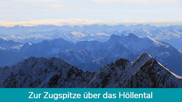 Zugspitze über das Höllental Wanderung