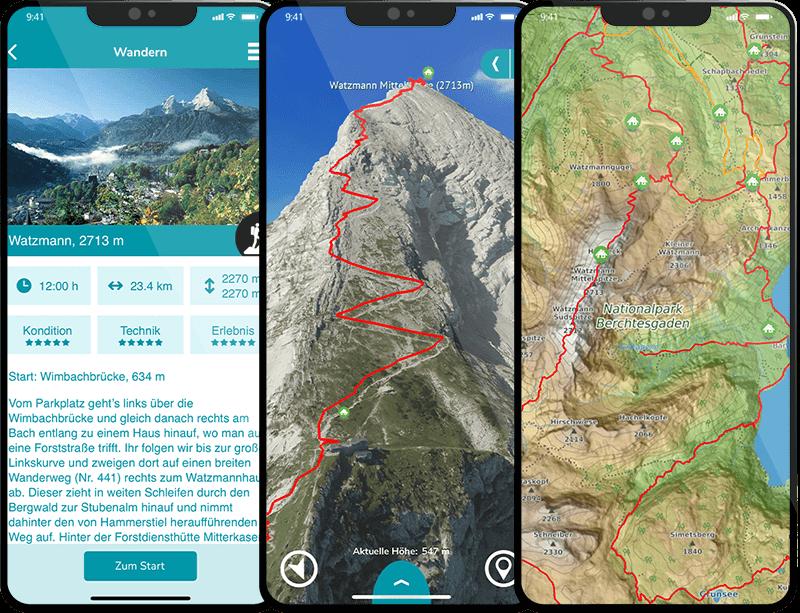 3D Karte Watzmann Topokarte