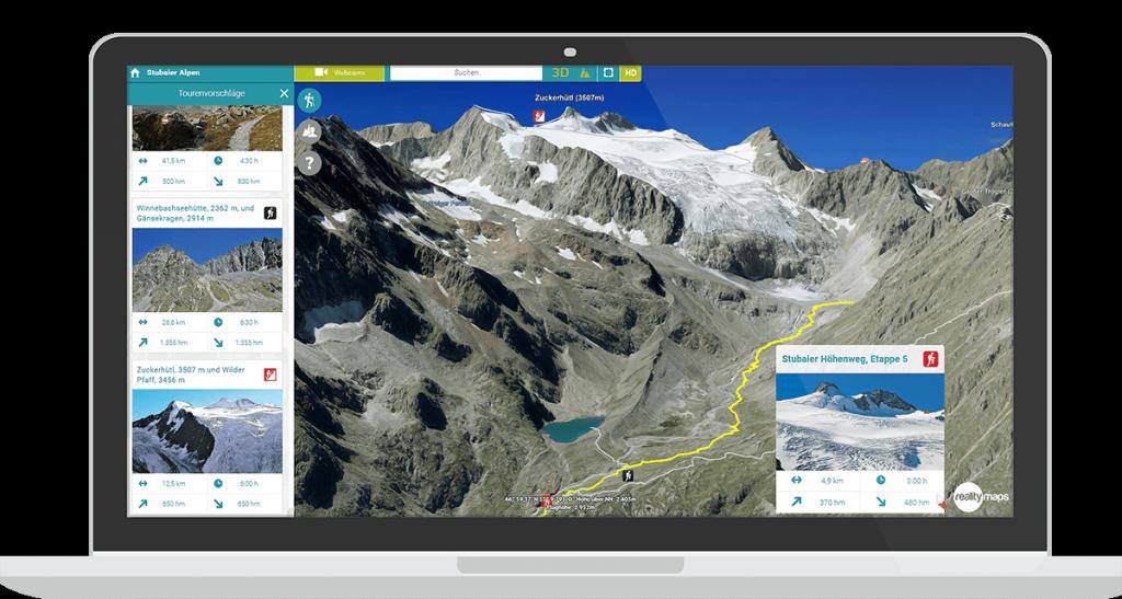 3D Tourenplaner Laptop