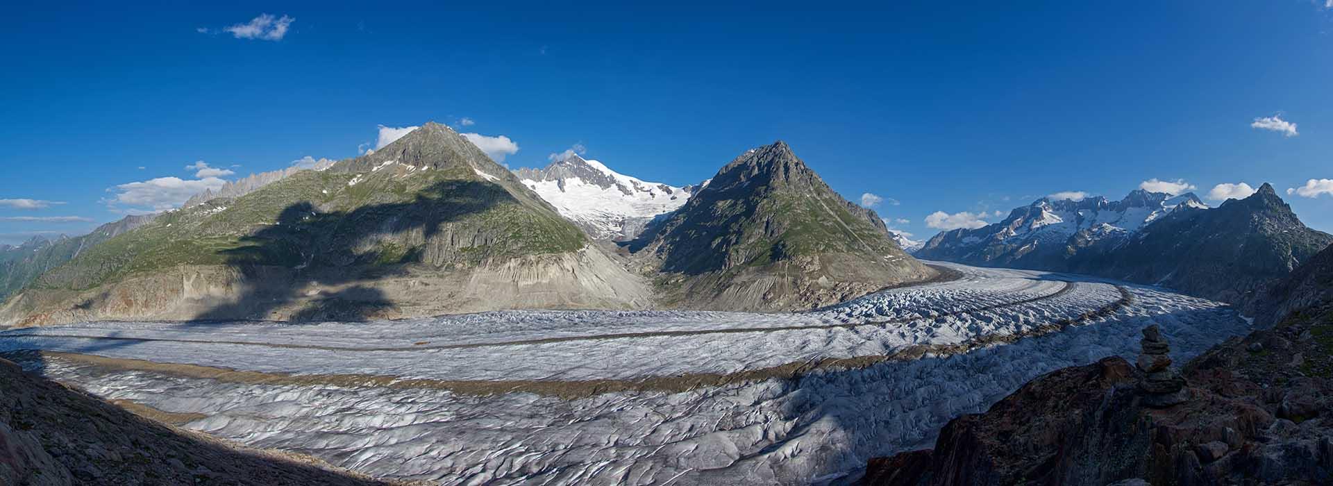 Aletschgletscher und Aletschhorn