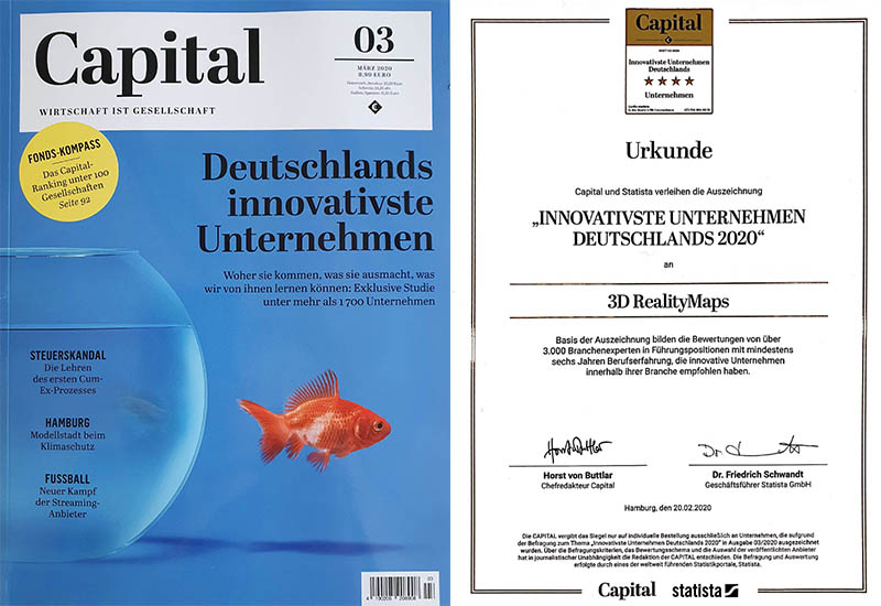 """Auszeichnung """"Innovativste Unternehmen Deutschlands 2020"""""""