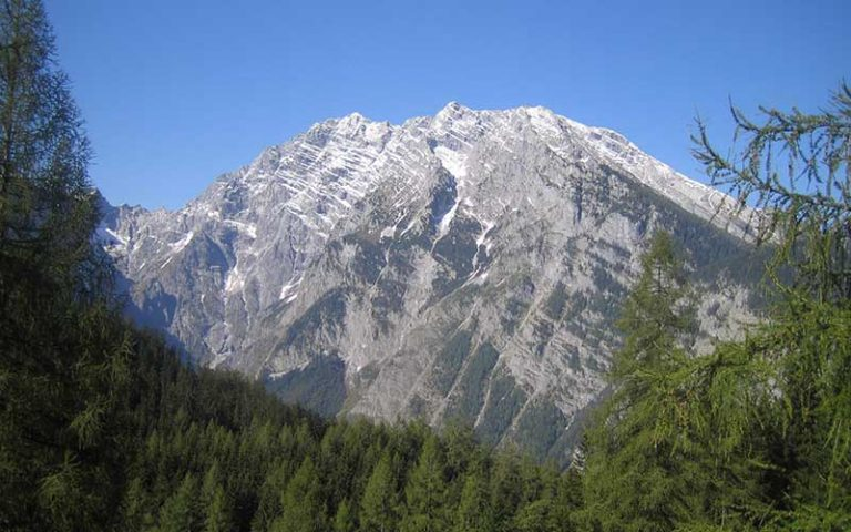 Watzmann Ostwand vom Weg zur Gotzenalm