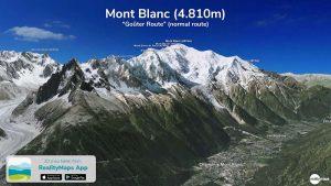 Der höchste Gipfel der Alpen jetzt in der RealityMaps App!